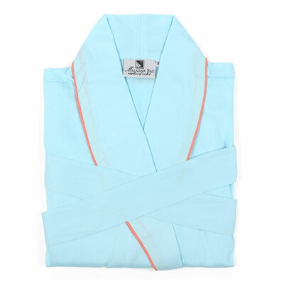 Sateen Bathrobe Size: Small, Color: Blue