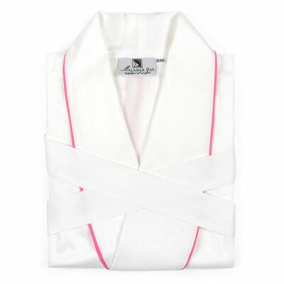 Sateen Bathrobe Size: Small, Color: Pink