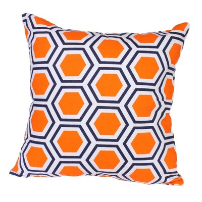 Roma Pillow in Orange Size: 18 x 18