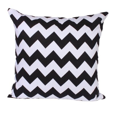 Lydia Pillow in Black Size: 18 x 18