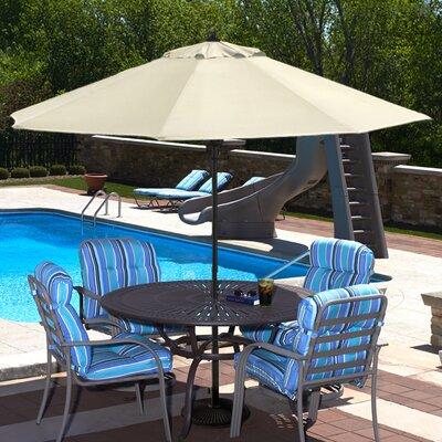 Swim Time 9' Spring-Up Market Umbrella (Set of 7) - Fabric: Stone