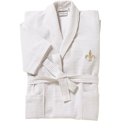 Fleur de Lis Robe in Beige Size: Medium