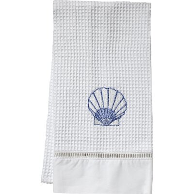 Scallop Hand Towel Color: Blue