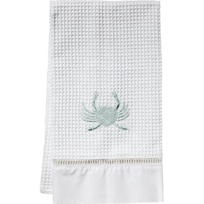 Crab Hand Towel Color: Aqua
