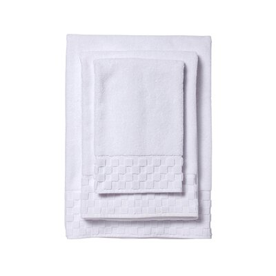 3 Piece Towel Set Color: White