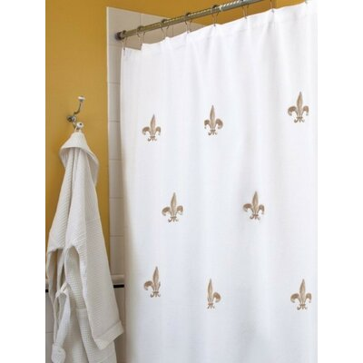 Fleur de Lis Embroidered Shower Curtain