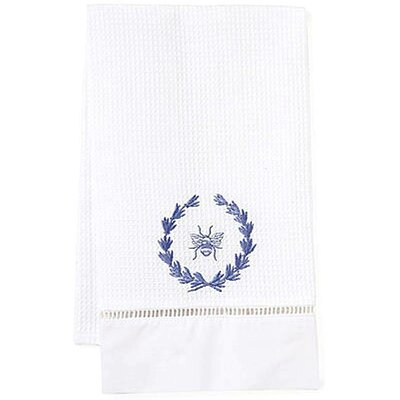 Bee Wreath Hand Towel Color: Blue