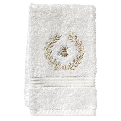 Terry Fingertip Towel Color: White/Beige