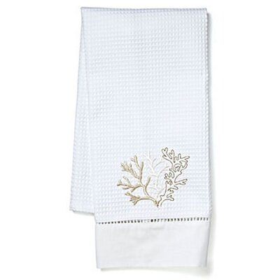 Waffle Weave Guest Coral Hand Towel