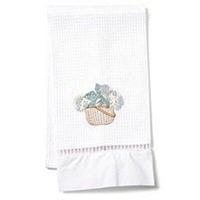 Waffle Weave Guest Hydrangea Basket Hand Towel