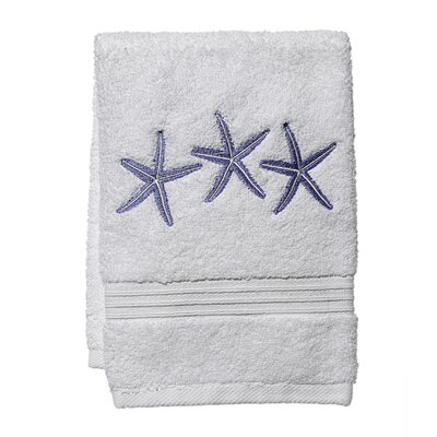 3 Starfish Fingertip Towel Color: White/Blue