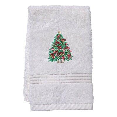 Terry Christmas Tree Fingertip Towel