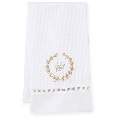 Bee Wreath Hand Towel Color: Beige