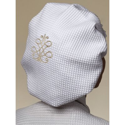 French Scroll Cotton Waffle Weave Shower Cap