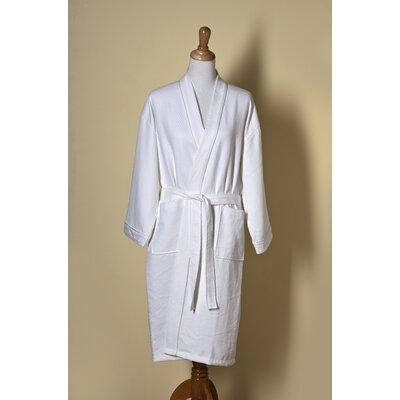 Willow Weave Kimono Style Bath Robe Size: Extra - Large