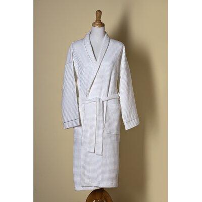 Waffle Weave Shawl Collar Bath Robe Size: Large