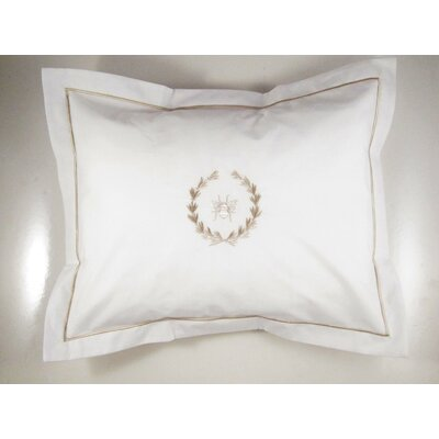 Bee Wreath Percale Cotton Pillow Cover Color: Beige