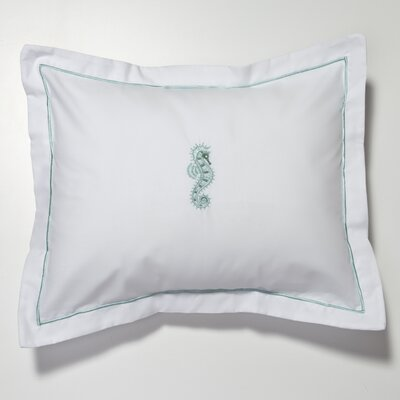 Seahorse Percale Cotton Pillow Cover