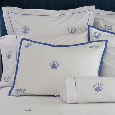 Diamond Pique Cotton Pillow Cover Size: Standard, Color: Blue