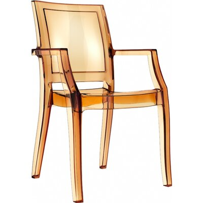 Arthur Stacking Arm Chair (Set of 4) Upholstery: Transparent Amber