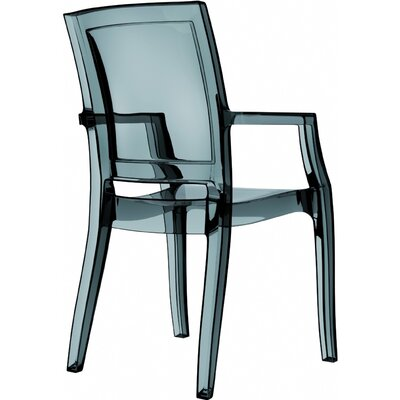 Arthur Stacking Arm Chair (Set of 4) Upholstery: Transparent Black