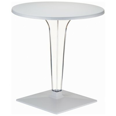 Compamia Ice Werzalit Dining Table - Color: Silver, Size: 24
