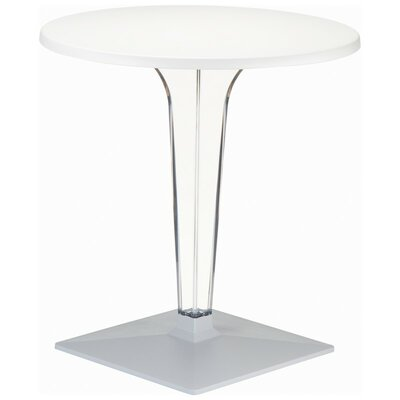 Ice Werzalit Dining Table Finish: White, Table Size: 28
