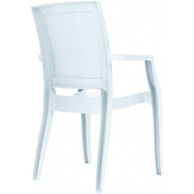 Arthur Stacking Arm Chair (Set of 4) Upholstery: Glossy White
