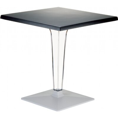 Ice Werzalit Dining Table Finish: Black, Table Size: 24 W x 24 D