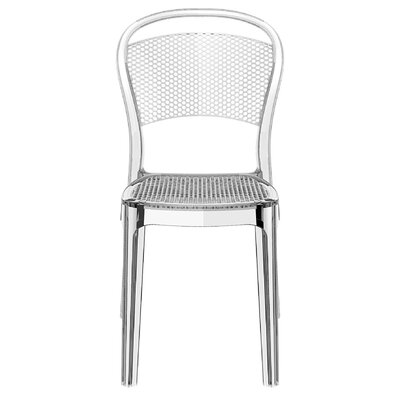 Flory Bee Stacking Patio Dining Chair (Set of 2) Upholstery: Transparent Clear