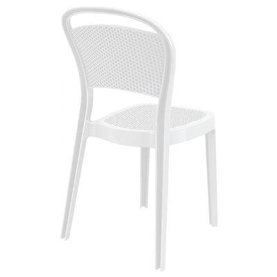 Bee Stacking Dining Side Chair (Set of 2) Upholstery: Glossy White