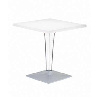 Ice Werzalit Dining Table Finish White Table Size 28 W x 28 D