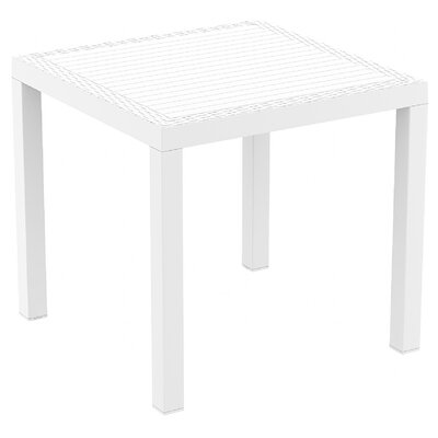 Orlando Wickerlook Dining Table Finish: White