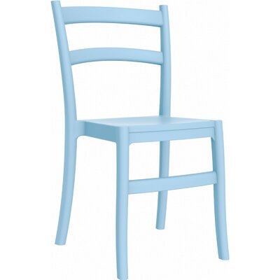 Tiffany Patio Dining Chair (Set of 2) Finish: Light Blue
