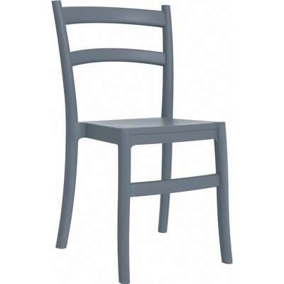 Tiffany Stacking Dining Side Chair (Set of 2) Finish: Dark Gray