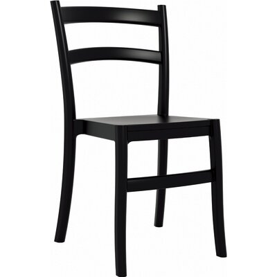 Tiffany Stacking Dining Side Chair (Set of 2) Finish: Black