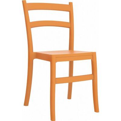 Tiffany Stacking Dining Side Chair (Set of 2) Finish: Orange