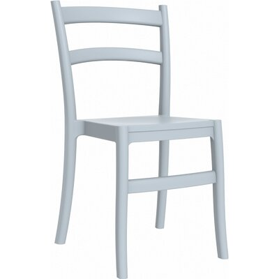 Tiffany Stacking Dining Side Chair (Set of 2) Finish: Silver Gray