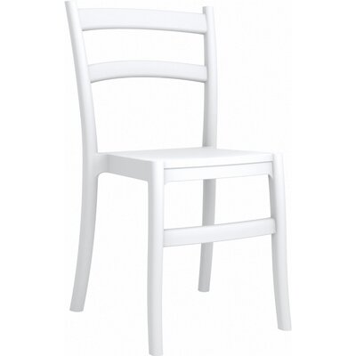 Tiffany Stacking Dining Side Chair (Set of 2) Finish: White