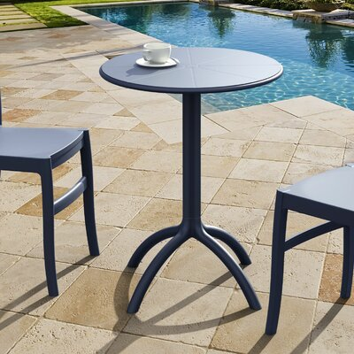 Octopus Bistro Table Finish: Dark Gray