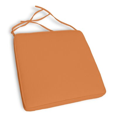 Capri Outdoor Sunbrella Dining Chair Cushion (Set of 2) Fabric: Tuscan