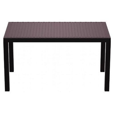 Orlando Wickerlook Dining Table Finish: Brown