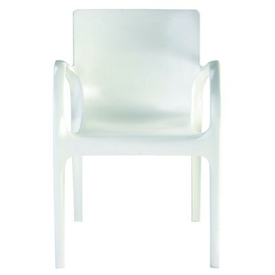 Dejavu Stacking Patio Dining Chair (Set of 4) Finish: Transparent