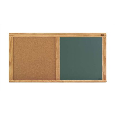 Natural cork bulletin board surface Chalkboard writing surface