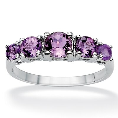 PalmBeach Jewelry Sterling Silver Graduated Amethyst Ring - Size: 10 at Sears.com