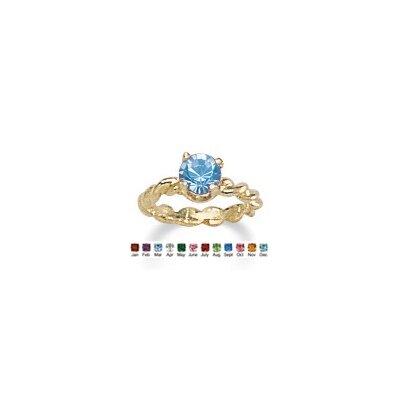 PalmBeach Jewelry 10K Gold Baby Charm Birthstone Ring - Birthstone: MAR-Aquamarine at Sears.com