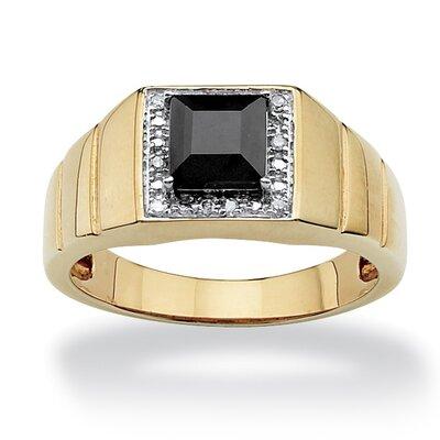 PalmBeach Jewelry Men's Lab Created Sapphire Ring - Size: 9