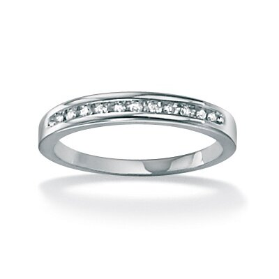 Round Cut White Diamond Wedding Band