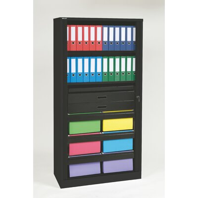 Bisley 1 Door Storage Cabinet Color: Black Product Image 980