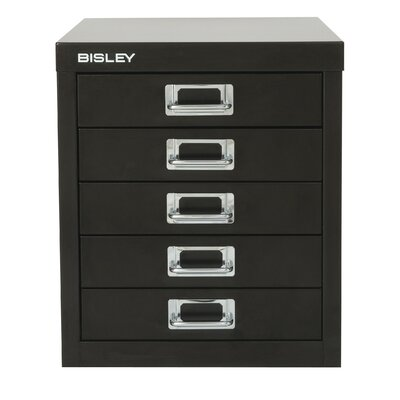 Picture Of Bisley Five Drawer Desktop Steel Storage Cabinet In Large Size